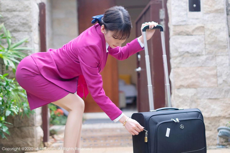 [XiuRen] Vol.2367 Zhou Yu Xi 56P, Stewardess, Underwear, Xiuren, Zhou Yu Xi