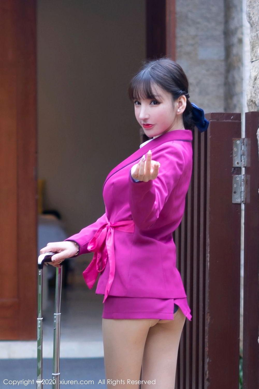 [XiuRen] Vol.2367 Zhou Yu Xi 5P, Stewardess, Underwear, Xiuren, Zhou Yu Xi