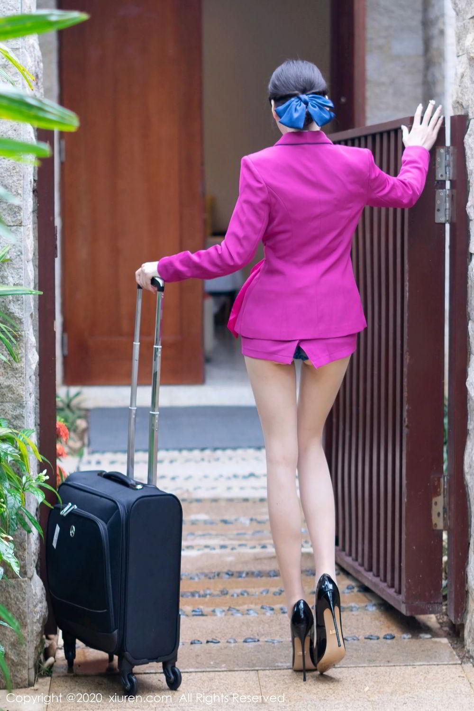 [XiuRen] Vol.2367 Zhou Yu Xi 6P, Stewardess, Underwear, Xiuren, Zhou Yu Xi