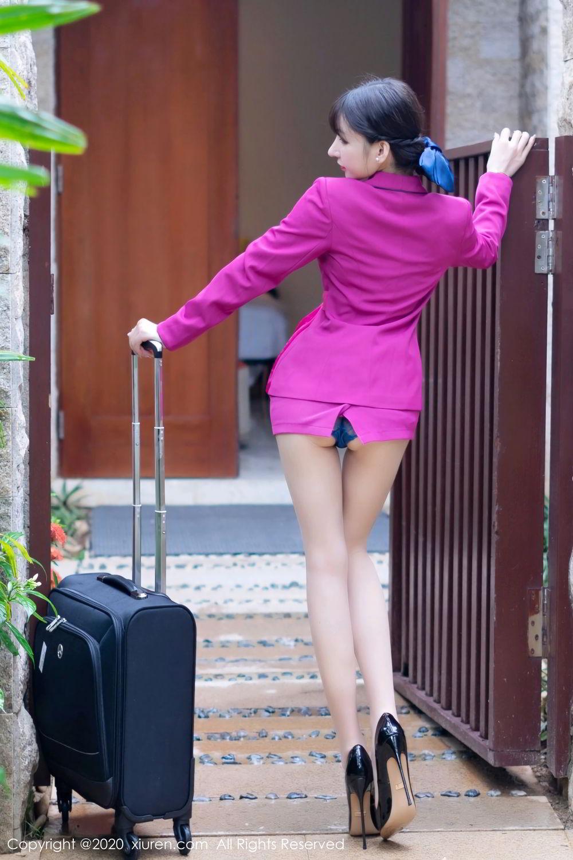 [XiuRen] Vol.2367 Zhou Yu Xi 7P, Stewardess, Underwear, Xiuren, Zhou Yu Xi