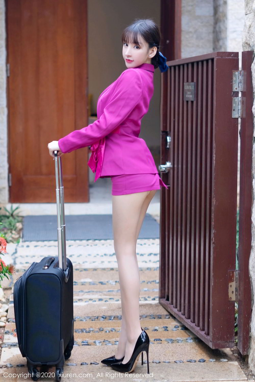 [XiuRen] Vol.2367 Zhou Yu Xi 8P, Stewardess, Underwear, Xiuren, Zhou Yu Xi