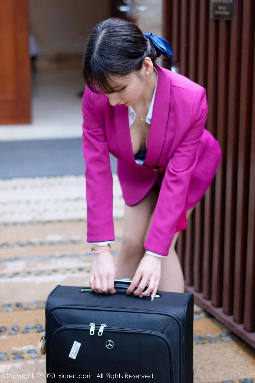 [XiuRen] Vol.2367 Zhou Yu Xi 9P, Stewardess, Underwear, Xiuren, Zhou Yu Xi