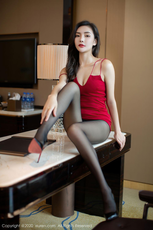 [XiuRen] Vol.2369 Xia Yue 12P, Black Silk, Temperament, Xia Yue, Xiuren