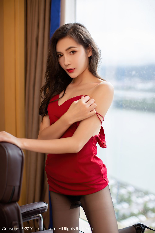 [XiuRen] Vol.2369 Xia Yue 15P, Black Silk, Temperament, Xia Yue, Xiuren