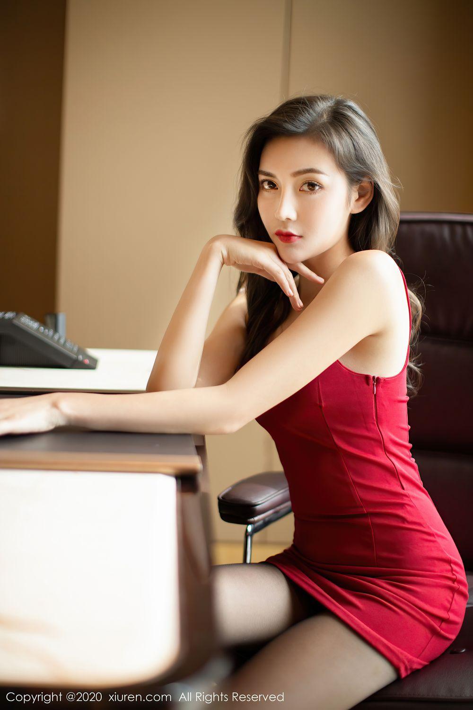 [XiuRen] Vol.2369 Xia Yue 2P, Black Silk, Temperament, Xia Yue, Xiuren