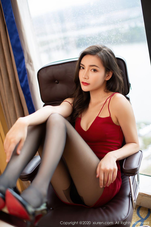 [XiuRen] Vol.2369 Xia Yue 6P, Black Silk, Temperament, Xia Yue, Xiuren