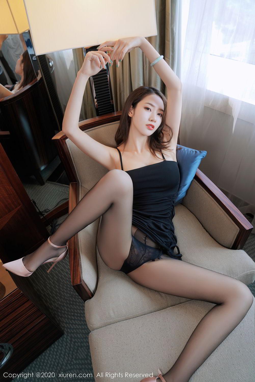 [XiuRen] Vol.2376 Fang Zi Xuan 2P, Black Silk, Mu Qing, Xiuren