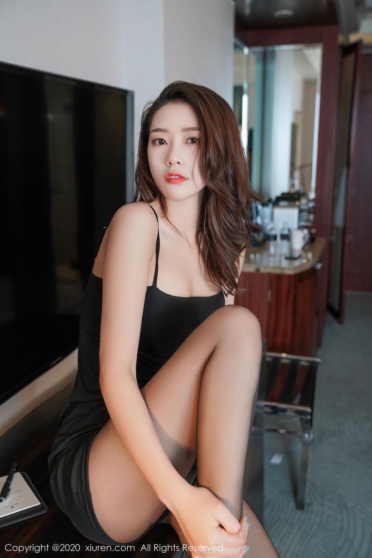 [XiuRen] Vol.2376 Fang Zi Xuan 30P, Black Silk, Mu Qing, Xiuren