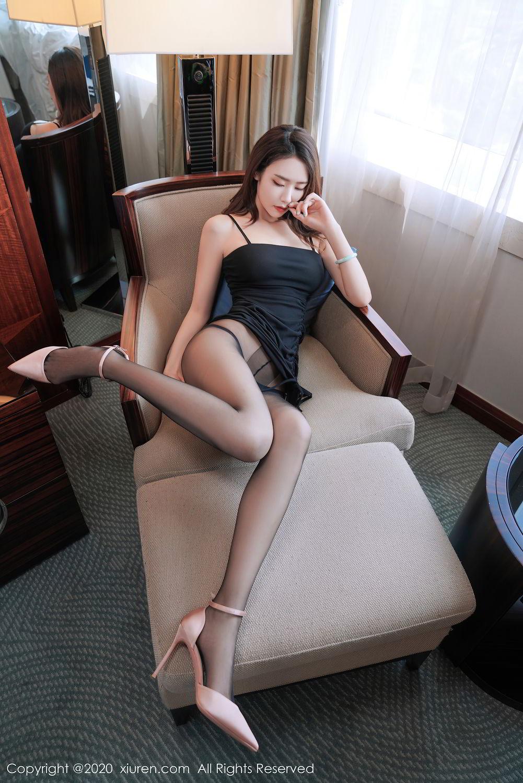 [XiuRen] Vol.2376 Fang Zi Xuan 38P, Black Silk, Mu Qing, Xiuren