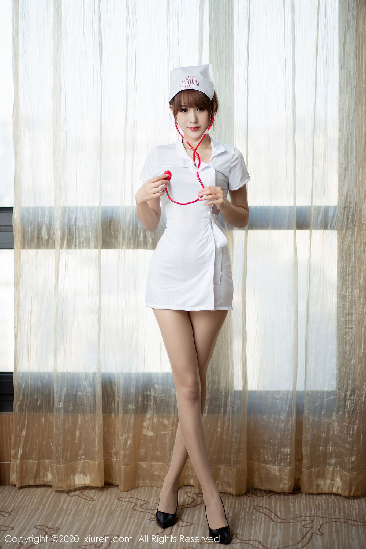 [XiuRen] Vol.2377 Zhou Mu Xi 12P, Nurse, Uniform, Xiuren, Zhou Mu Xi
