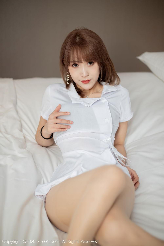 [XiuRen] Vol.2377 Zhou Mu Xi 13P, Nurse, Uniform, Xiuren, Zhou Mu Xi