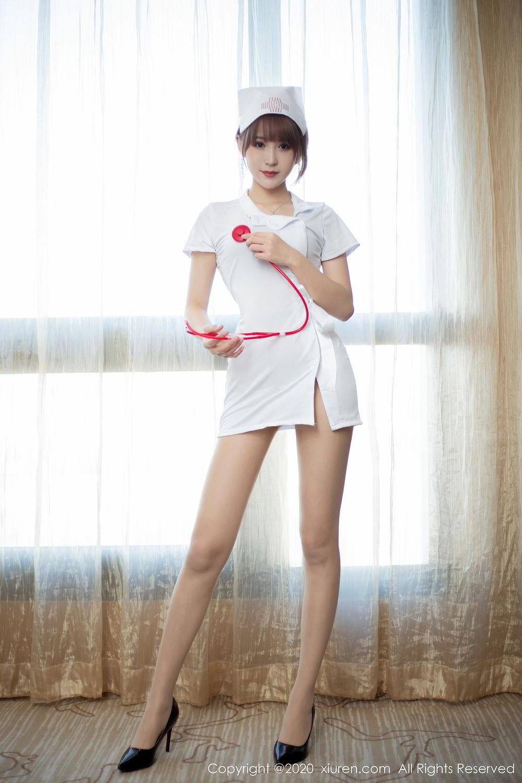 [XiuRen] Vol.2377 Zhou Mu Xi 1P, Nurse, Uniform, Xiuren, Zhou Mu Xi