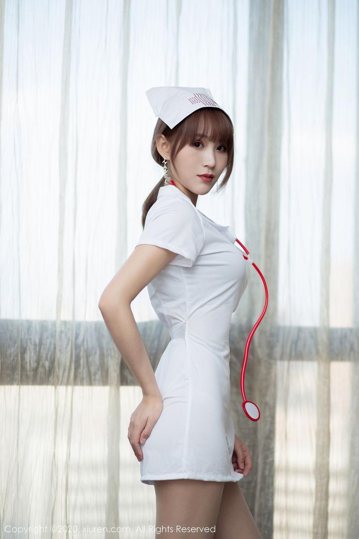 [XiuRen] Vol.2377 Zhou Mu Xi 3P, Nurse, Uniform, Xiuren, Zhou Mu Xi