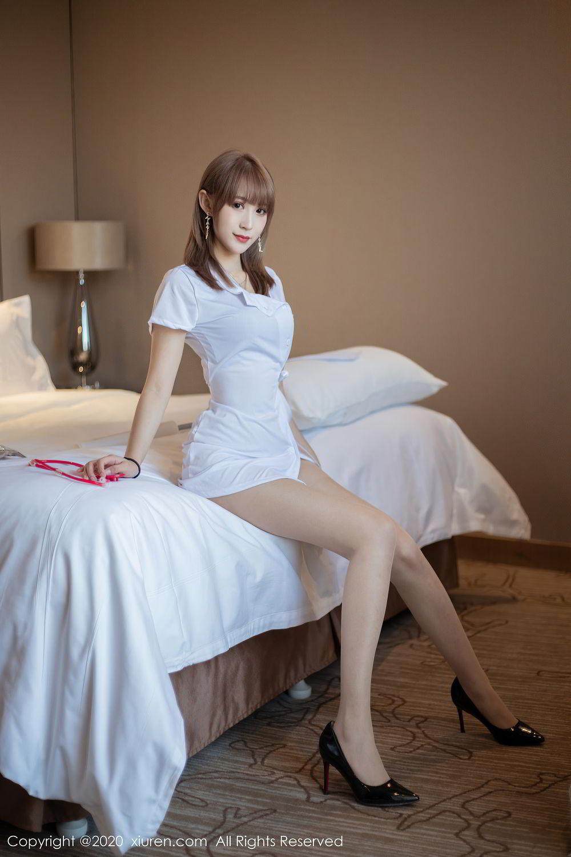 [XiuRen] Vol.2377 Zhou Mu Xi 5P, Nurse, Uniform, Xiuren, Zhou Mu Xi