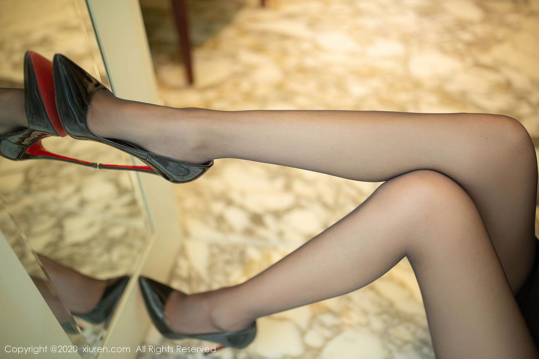 [XiuRen] Vol.2379 Yi Xuan 19P, Black Silk, Cheongsam, Fu Yi Xuan, Tall, Underwear, Xiuren