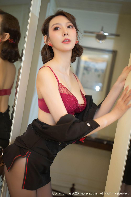 [XiuRen] Vol.2379 Yi Xuan 30P, Black Silk, Cheongsam, Fu Yi Xuan, Tall, Underwear, Xiuren