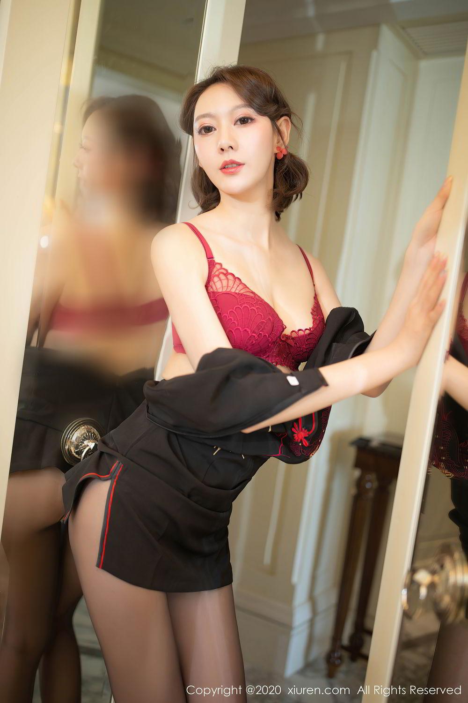 [XiuRen] Vol.2379 Yi Xuan 31P, Black Silk, Cheongsam, Fu Yi Xuan, Tall, Underwear, Xiuren