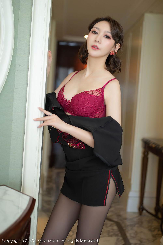 [XiuRen] Vol.2379 Yi Xuan 33P, Black Silk, Cheongsam, Fu Yi Xuan, Tall, Underwear, Xiuren