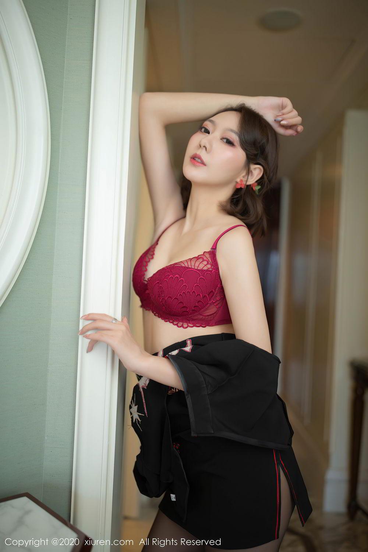 [XiuRen] Vol.2379 Yi Xuan 36P, Black Silk, Cheongsam, Fu Yi Xuan, Tall, Underwear, Xiuren