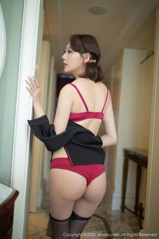 [XiuRen] Vol.2379 Yi Xuan 42P, Black Silk, Cheongsam, Fu Yi Xuan, Tall, Underwear, Xiuren
