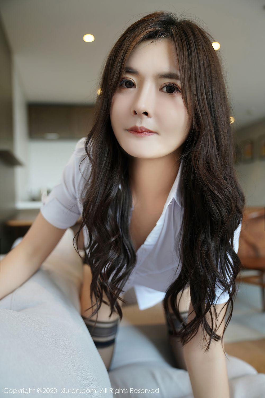 [XiuRen] Vol.2381 Bai Lu Xiao Zhu 38P, Bai Lu Xiao Zhu, Black Silk, Uniform, Xiuren