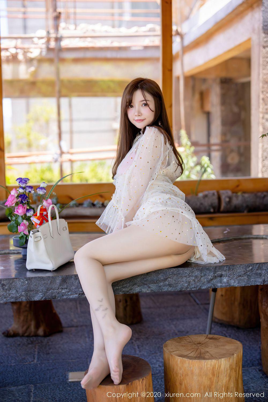 [XiuRen] Vol.2382 Nuo Mei Zi 15P, Mini Da Meng Meng, Outdoor, Xiuren