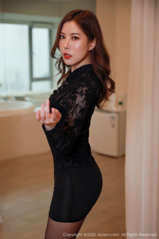 [XiuRen] Vol.2387 Bai Ru Xue 12P, Bai Ru Xue, Big Booty, Black Silk, Xiuren