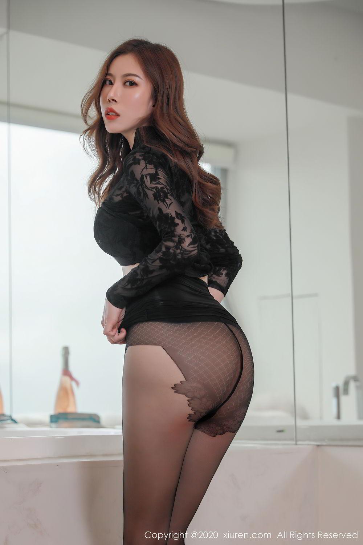 [XiuRen] Vol.2387 Bai Ru Xue 1P, Bai Ru Xue, Big Booty, Black Silk, Xiuren