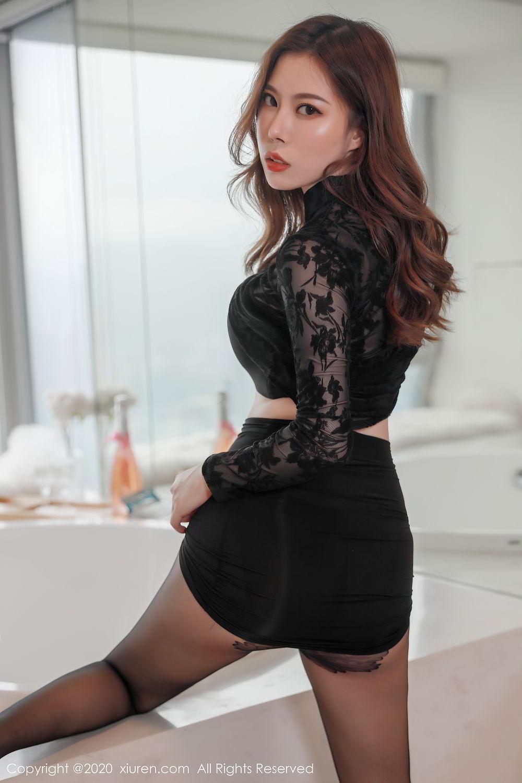 [XiuRen] Vol.2387 Bai Ru Xue 38P, Bai Ru Xue, Big Booty, Black Silk, Xiuren