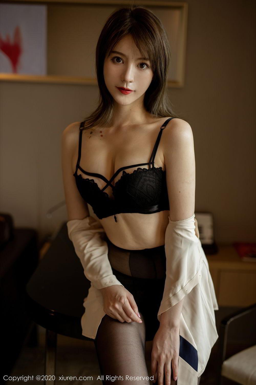 [XiuRen] Vol.2388 Yoo You You 13P, Black Silk, Underwear, Xiuren, Yoo You You