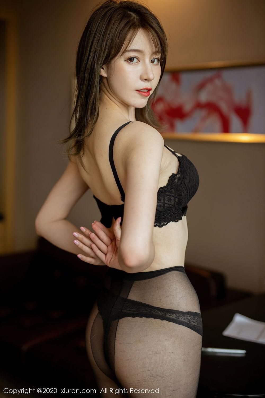 [XiuRen] Vol.2388 Yoo You You 15P, Black Silk, Underwear, Xiuren, Yoo You You