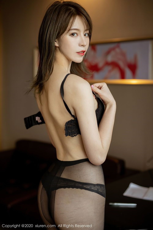 [XiuRen] Vol.2388 Yoo You You 16P, Black Silk, Underwear, Xiuren, Yoo You You
