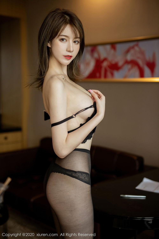 [XiuRen] Vol.2388 Yoo You You 17P, Black Silk, Underwear, Xiuren, Yoo You You