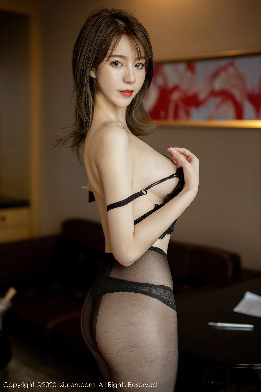 [XiuRen] Vol.2388 Yoo You You 18P, Black Silk, Underwear, Xiuren, Yoo You You