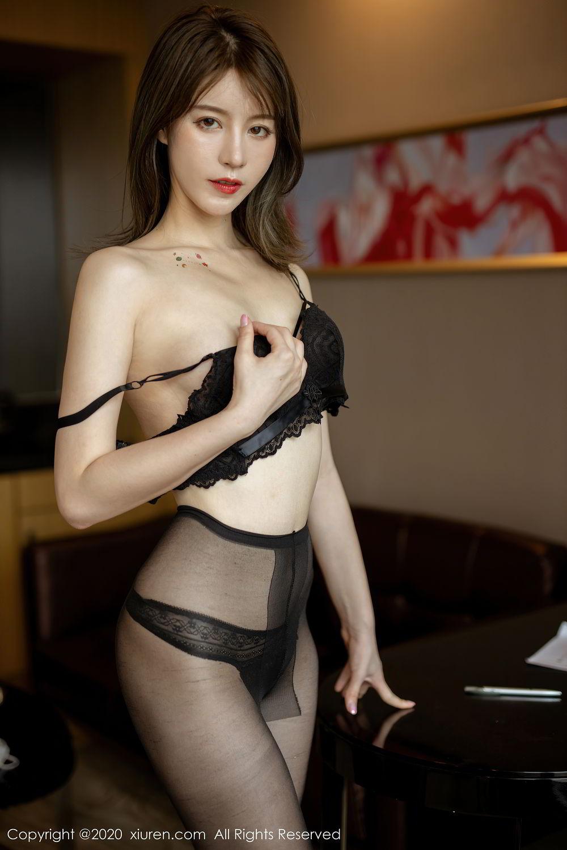 [XiuRen] Vol.2388 Yoo You You 20P, Black Silk, Underwear, Xiuren, Yoo You You