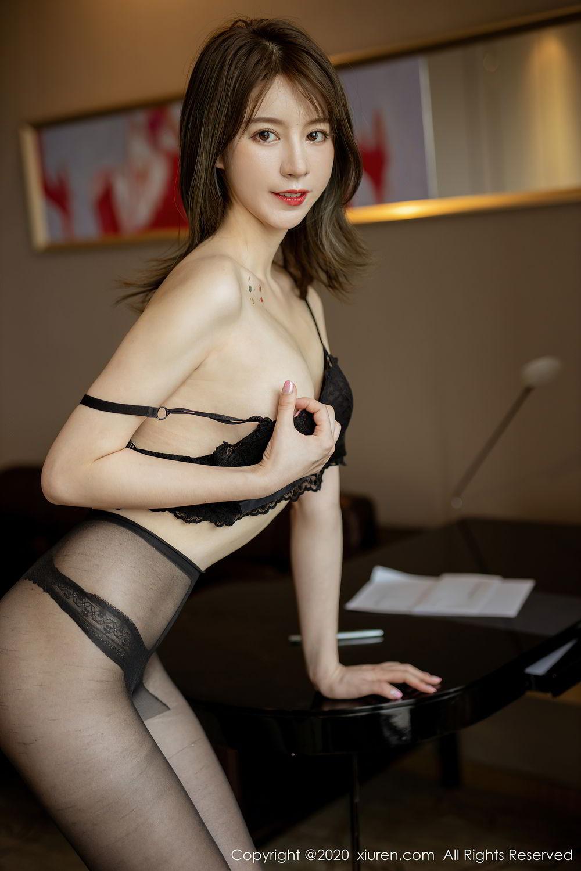 [XiuRen] Vol.2388 Yoo You You 21P, Black Silk, Underwear, Xiuren, Yoo You You