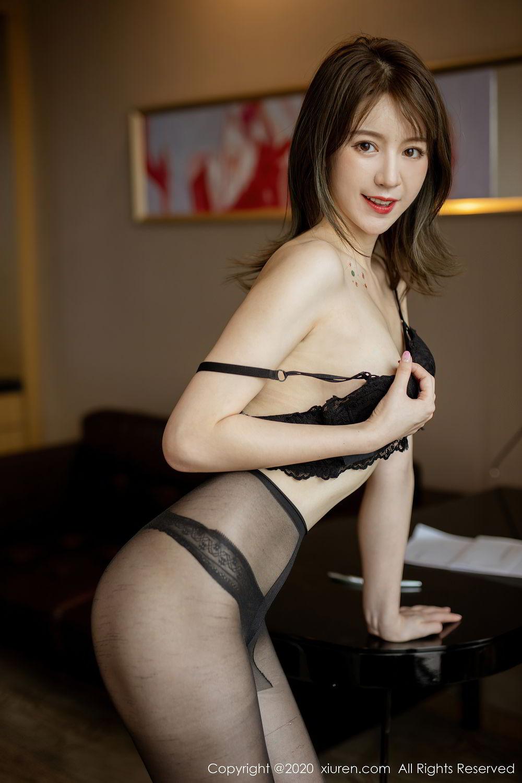 [XiuRen] Vol.2388 Yoo You You 22P, Black Silk, Underwear, Xiuren, Yoo You You