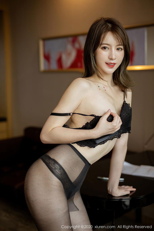 [XiuRen] Vol.2388 Yoo You You 24P, Black Silk, Underwear, Xiuren, Yoo You You