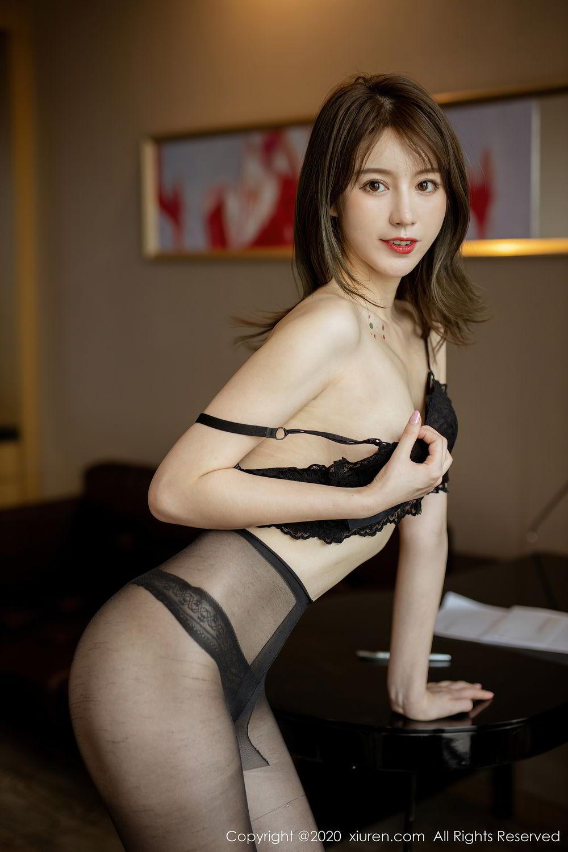 [XiuRen] Vol.2388 Yoo You You 25P, Black Silk, Underwear, Xiuren, Yoo You You