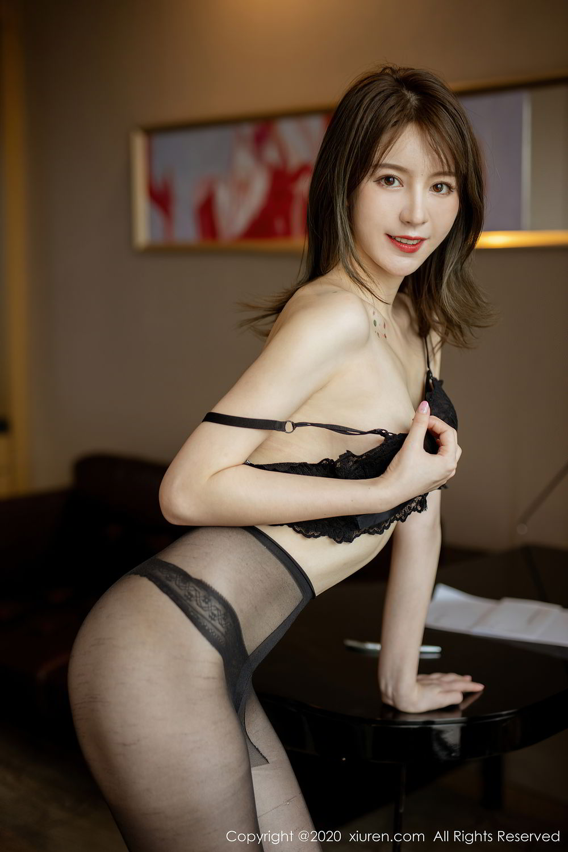 [XiuRen] Vol.2388 Yoo You You 26P, Black Silk, Underwear, Xiuren, Yoo You You