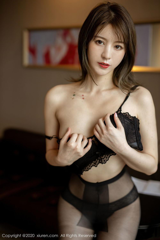 [XiuRen] Vol.2388 Yoo You You 27P, Black Silk, Underwear, Xiuren, Yoo You You