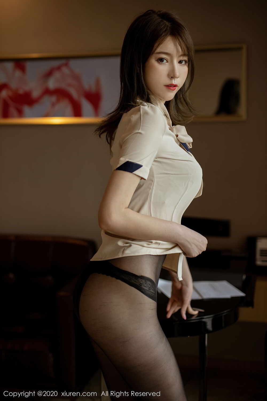 [XiuRen] Vol.2388 Yoo You You 2P, Black Silk, Underwear, Xiuren, Yoo You You