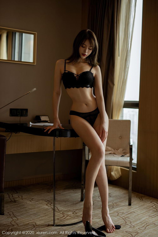 [XiuRen] Vol.2388 Yoo You You 37P, Black Silk, Underwear, Xiuren, Yoo You You