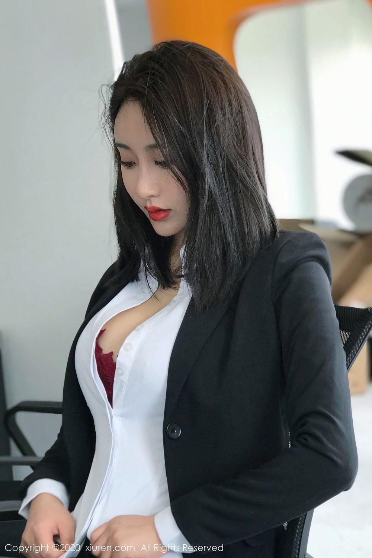 [XiuRen] Vol.2392 Lin Zi Xin 10P, Lin Zi Xin, Underwear, Uniform, Xiuren