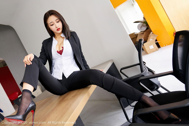 [XiuRen] Vol.2392 Lin Zi Xin 14P, Lin Zi Xin, Underwear, Uniform, Xiuren