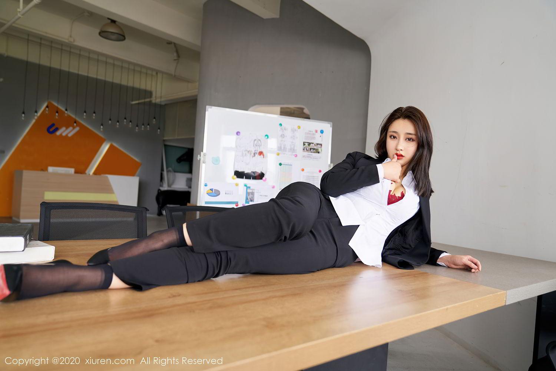 [XiuRen] Vol.2392 Lin Zi Xin 16P, Lin Zi Xin, Underwear, Uniform, Xiuren