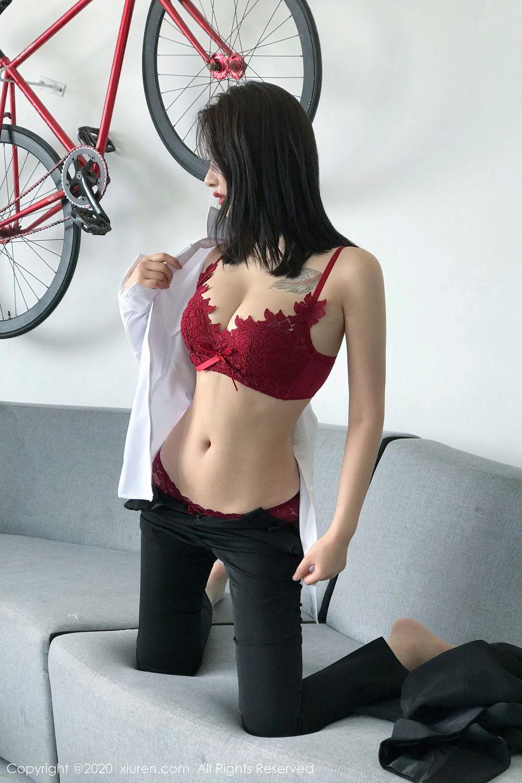 [XiuRen] Vol.2392 Lin Zi Xin 38P, Lin Zi Xin, Underwear, Uniform, Xiuren
