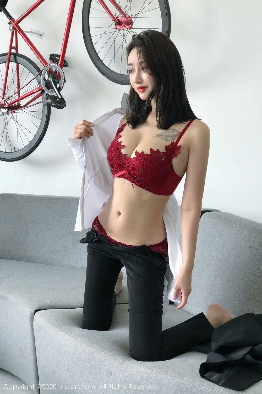 [XiuRen] Vol.2392 Lin Zi Xin 39P, Lin Zi Xin, Underwear, Uniform, Xiuren