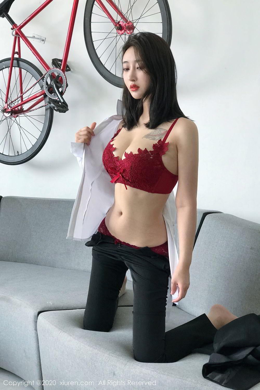 [XiuRen] Vol.2392 Lin Zi Xin 40P, Lin Zi Xin, Underwear, Uniform, Xiuren