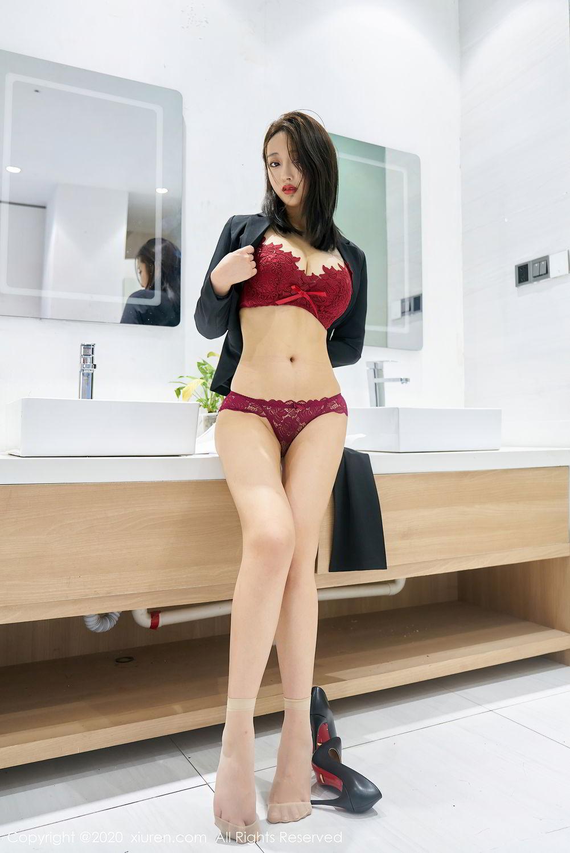 [XiuRen] Vol.2392 Lin Zi Xin 46P, Lin Zi Xin, Underwear, Uniform, Xiuren